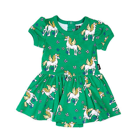 S18 Rock Your Baby Unicorn SS Waisted Dress
