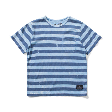 S18 Munster Kids Washed Up Tee - Washed Blue (Drop 3)