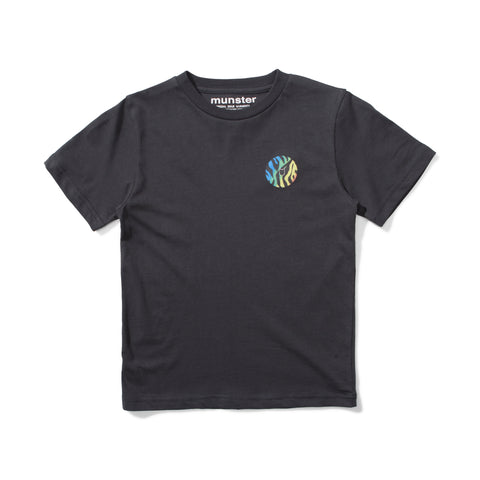 S18 Munster Kids Wildlife Tee - Soft Black (Drop 3)