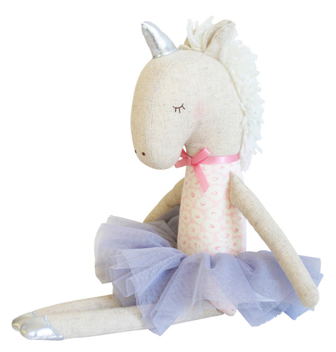 Alimrose Yvette Unicorn Doll - Pink and Silver