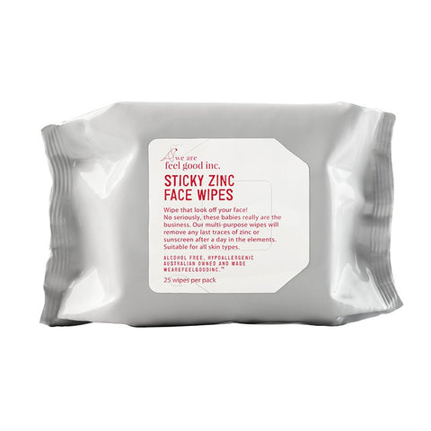 We Are Feel Good Inc. Sticky Zinc Face Wipes