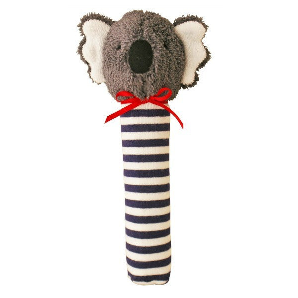 Alimrose Designs Koala Hand Squeaker - Navy Stripe - My Messy Room