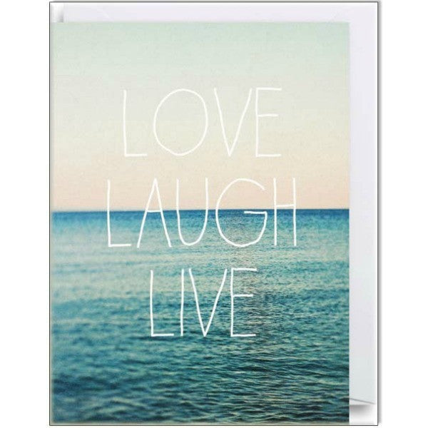 Love, Laugh, Live Mini Card - My Messy Room