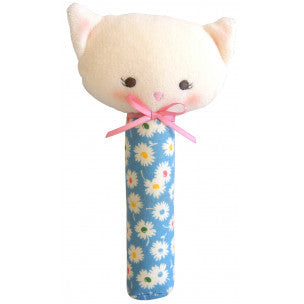Alimrose Designs Kitty Squeaker - Blue Floral - My Messy Room