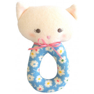 Alimrose Designs Bunny Grab Rattle - Blue Floral - My Messy Room