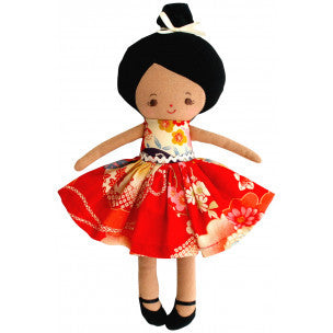 Alimrose Mini Maggie Doll 28cm - Red - My Messy Room