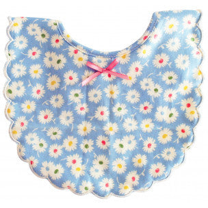 Alimrose Designs Scallop Bib - Blue Floral - My Messy Room