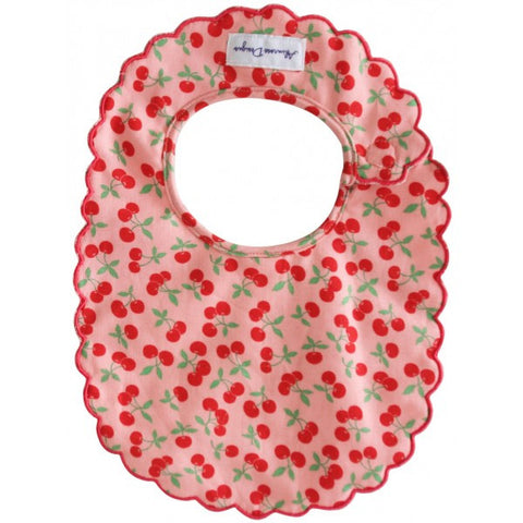 Alimrose Designs Scallop Bib - Cherry Yum!