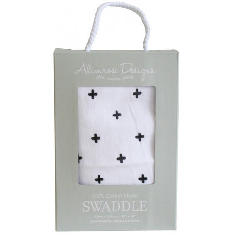 Alimrose Swaddle - Cross Black