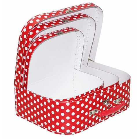 Red Polka Suitcase - 3 sizes