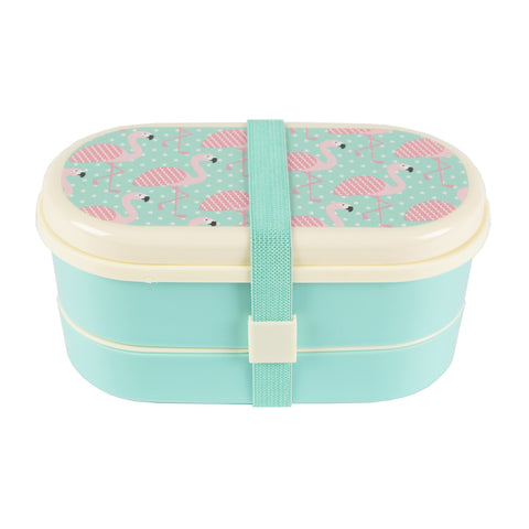 Sass & Belle Bento Lunch Box- Flamingo