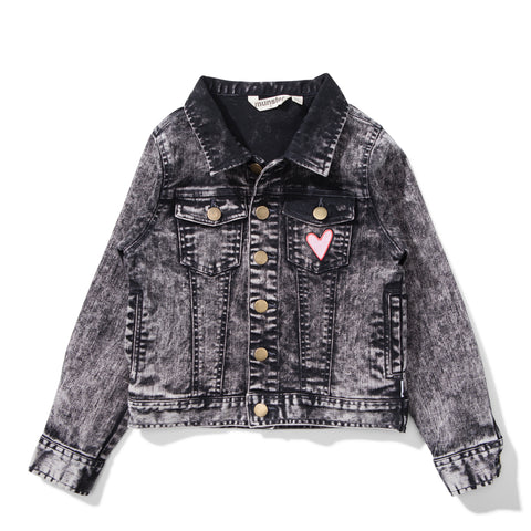 W18 Missie Munster Blondie Acid Wash Denim Jacket