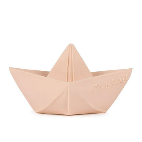 Oli and Carol Origami Boat Teether Bath Boxed - Nude