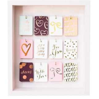 Blushing Confetti Assorted Gift Tags - My Messy Room