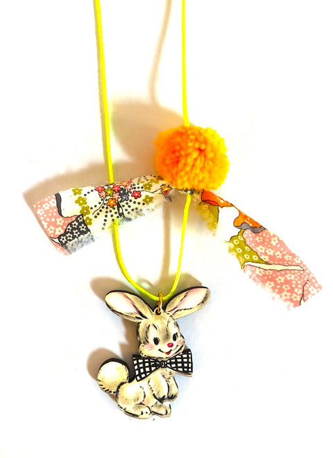 Gunner and Lux Liberty of London Bunny Necklace