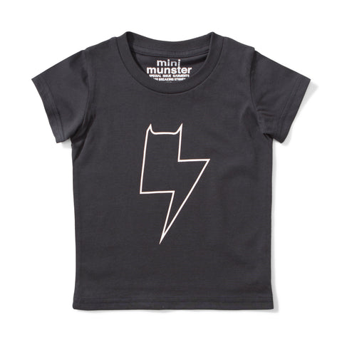 S18 Mini Munster Charge Tee - Soft Black (Pre-Order)