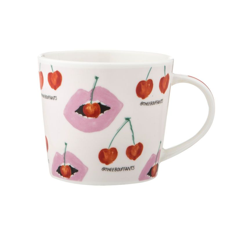 Bouffants And Broken Hearts Cheeky Cherry Lips Mug 400ml