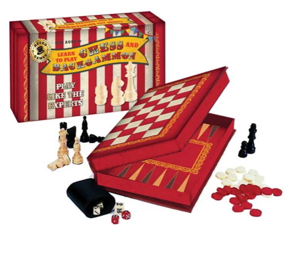 Chess and Backgammon Vintage Set
