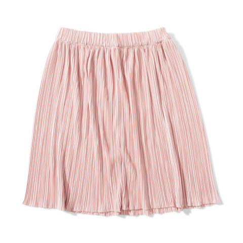 S18 Missie Munster Coco Pleated Metallic Skirt - Blush (Pre-Order)