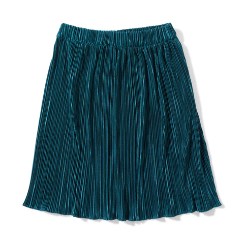 S18 Missie Munster Coco Pleated Metallic Skirt - Teal (Pre-Order)