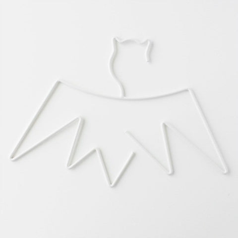 Little Pop Studio Bat Kids Hanger in White - My Messy Room - 1