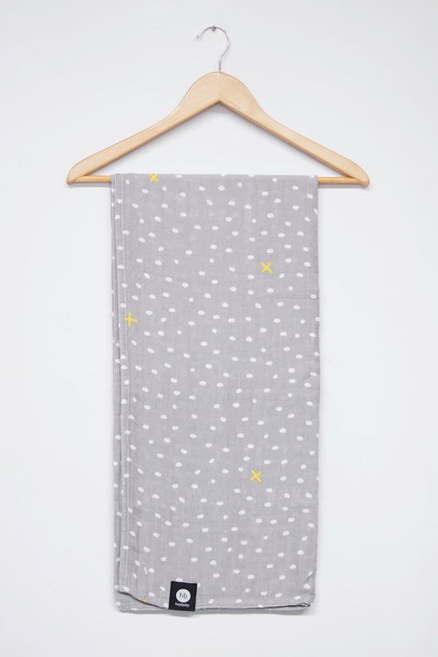 Hey Baby Bamboo Swaddle Wrap - Dotty Steel