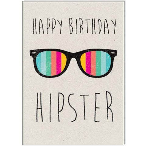 Birthday Hipster Card - My Messy Room