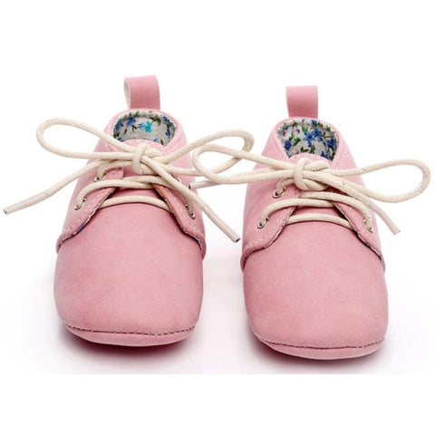 My Messy Room Leather Lace Up Booties - Blush