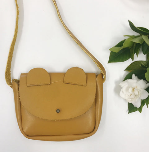 MMR Social Club Mini Leather Kitty Bag - Mustard