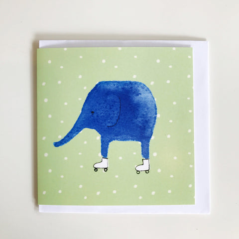 Elephant on Skates Card J14