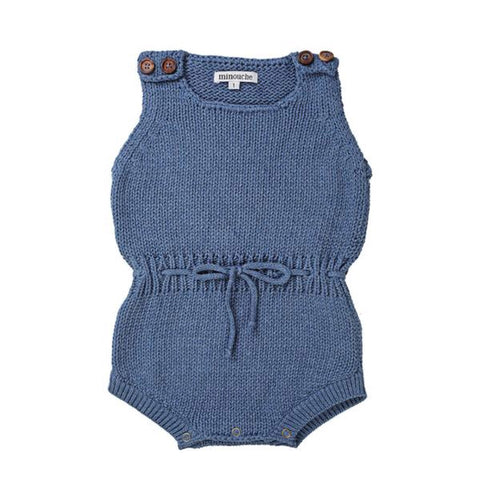 W18 Minouche Knit Romper - Denim Blue