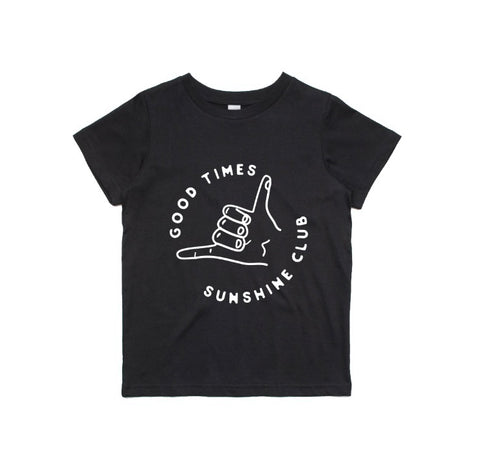 Sunshine Club Good Times Tee - Black