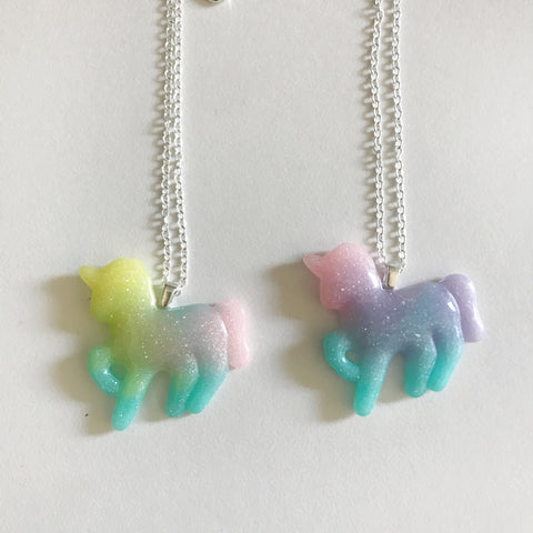 MMR Social Club Glitter Bomb Unicorn Necklace