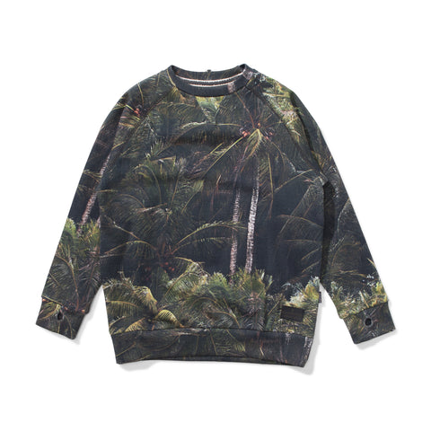 W18 Munster Kids Jungle Palms Fleece Crew