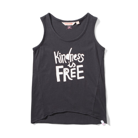 S18 Missie Munster Kindness Singlet - Soft Black (Drop2)