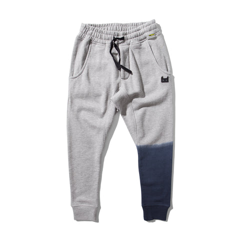 W18 Munster Kids Leg Dip Trackpant - Grey Marle
