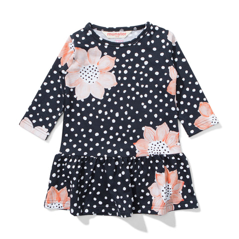 W18 Lil Missie Lily Black Floral Dress