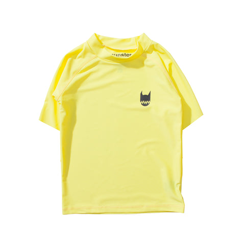 S17 Munster Kids Logo S/S Rashee - Yellow
