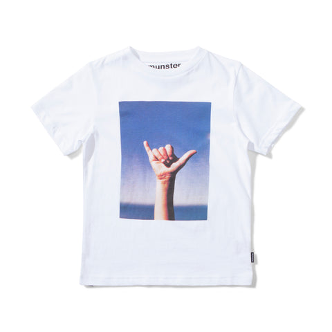 S18 Munster Kids Loose Tee - White (Pre-Order)