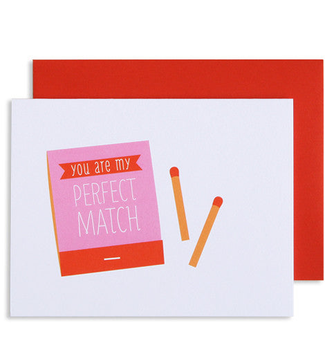 Perfect Match Greeting Card - My Messy Room