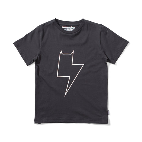 S18 Munster Kids Mikey Bolt Tee - Soft Black (Pre-Order)