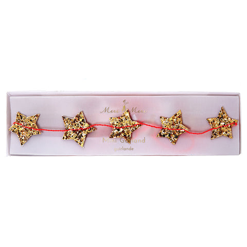 Meri Meri Mini Star Gold Garland