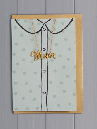 Petra Boase Embroidered Mum Spots Card