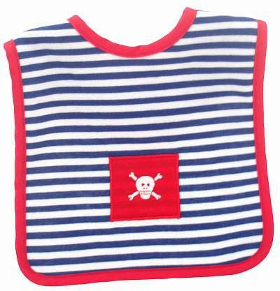 Alimrose Designs Pirate Navy Stripe Bib - My Messy Room