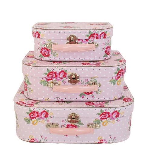 Rose Floral Suitcase - 3 sizes