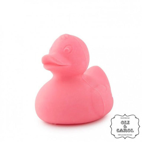 Oli and Carol Teething Bath Duck - IndividuallyBoxed - Pink
