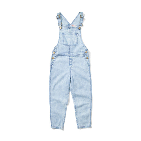 W18 Missie Munster Peace And Love Denim Overalls