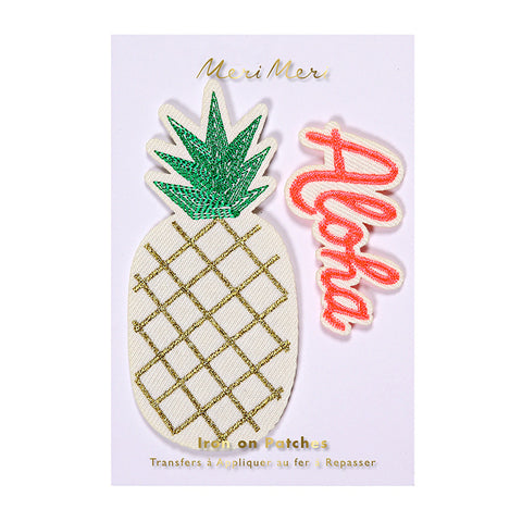 Meri Meri Iron On Patch - Pineapple / Aloha