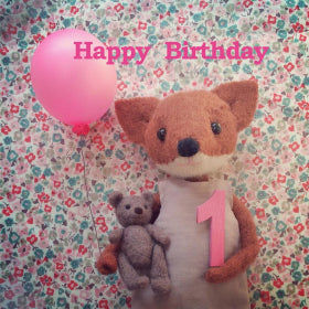 CRG1 Pippi and Me Card Happy Birthday 1 Pink