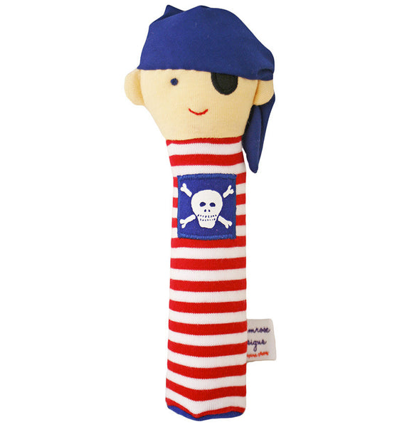Alimrose Designs Pirate Red Stripe Hand Squeaker - My Messy Room